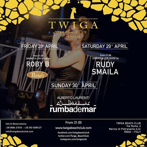 28 29 30 aprile twiga beach club