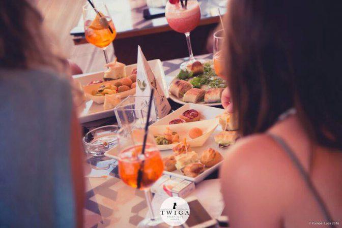 buffet privato domenica twiga beach club