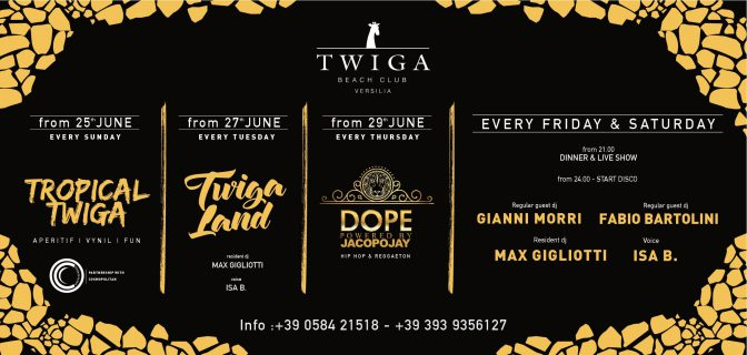 programma twiga beach club