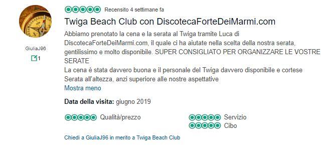 recensioni twiga beach club